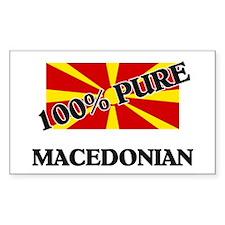 100 Percent MACEDONIAN Rectangle Decal
