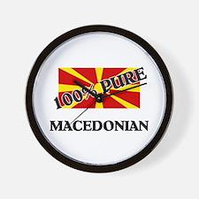 100 Percent MACEDONIAN Wall Clock
