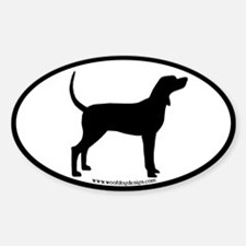 Coonhound #2 Oval Oval Decal