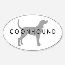 Coonhound (Grey) Dog Breed Oval Decal