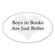 Boys in Books Oval Decal
