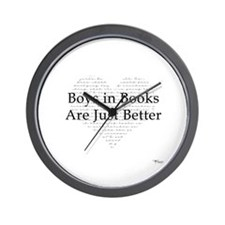 Boys in Books Wall Clock