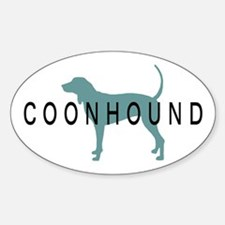 Coonhound Dogs Oval Decal