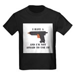 I Have A Glue Gun Kids Dark T-Shirt
