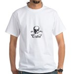 Crafter - Skull and Crossbone White T-Shirt