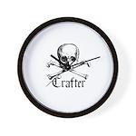 Crafter - Skull and Crossbone Wall Clock