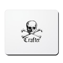 Crafter - Skull and Crossbone Mousepad