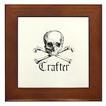 Crafter - Skull and Crossbone Framed Tile