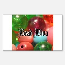 Bead Diva Rectangle Decal
