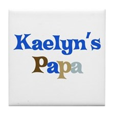 Kaelyn's Papa Tile Coaster