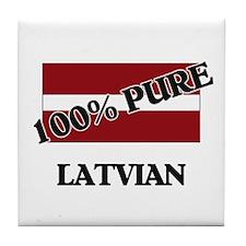 100 Percent LATVIAN Tile Coaster