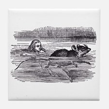Alice and the Mouse Tile Coaster