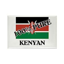 100 Percent KENYAN Rectangle Magnet