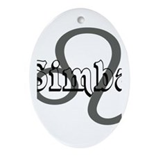 Simba~Leo Oval Ornament