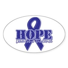 Hope Domestic Violence Oval Decal