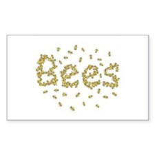 Bees Rectangle Decal