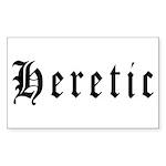 Heretic Rectangle Sticker 50 pk)