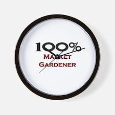 100 Percent Market Gardener Wall Clock