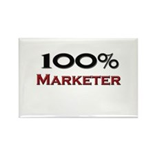 100 Percent Marketer Rectangle Magnet