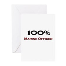 100 Percent Marine Officer Greeting Cards (Pk of 1