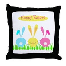 Hoppy Easter! Throw Pillow