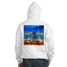Gold Dolphins on front of sweatshirt