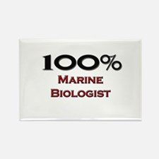 100 Percent Marine Biologist Rectangle Magnet