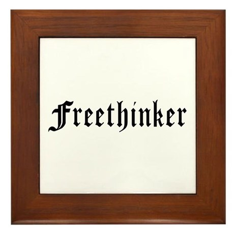 Freethinker Framed Tile