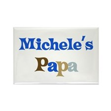Michele's Papa Rectangle Magnet
