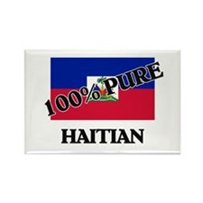 100 Percent HAITIAN Rectangle Magnet