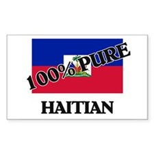 100 Percent HAITIAN Rectangle Decal