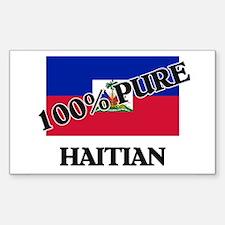100 Percent HAITIAN Rectangle Decal