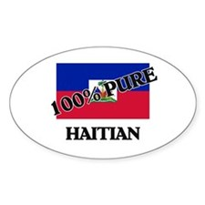 100 Percent HAITIAN Oval Decal