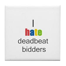 Cute Deadbeat Tile Coaster
