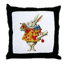 WONDERLAND RABBIT Throw Pillow