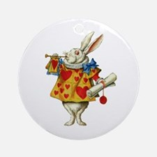 WONDERLAND RABBIT Ornament (Round)