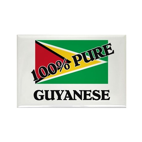 100 Percent GUYANESE Rectangle Magnet