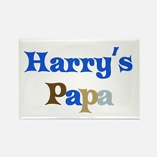 Harry's Papa Rectangle Magnet