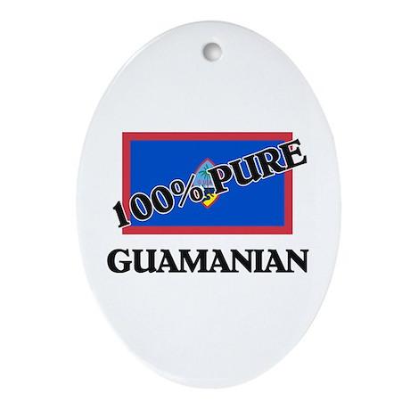 100 Percent GUAMANIAN Oval Ornament