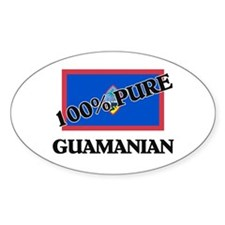 100 Percent GUAMANIAN Oval Decal