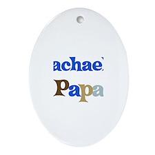 Rachael's Papa Oval Ornament