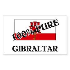 100 Percent GIBRALTAR Rectangle Decal