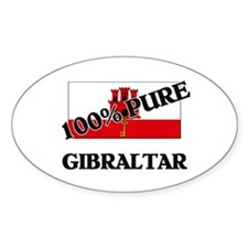 100 Percent GIBRALTAR Oval Decal