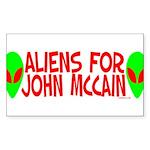 Aliens For John McCain Rectangle Sticker 50 pk)