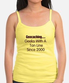 Geeks with a tan line- Singlet top.