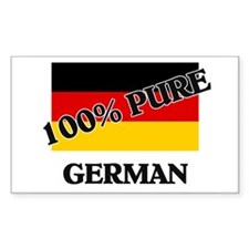 100 Percent GERMAN Rectangle Decal