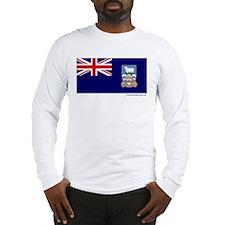 Falkland Islands Flag on a Long Sleeve T-Shirt
