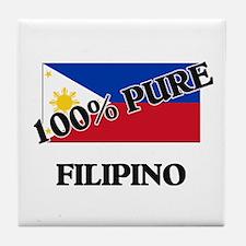 100 Percent FILIPINO Tile Coaster