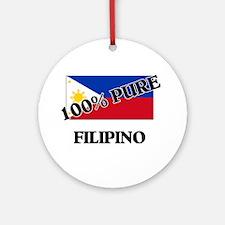 100 Percent FILIPINO Ornament (Round)