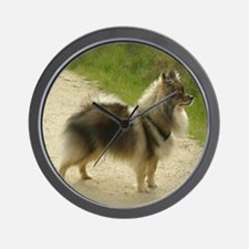 Wolf Sable Pomeranian Wall Clock